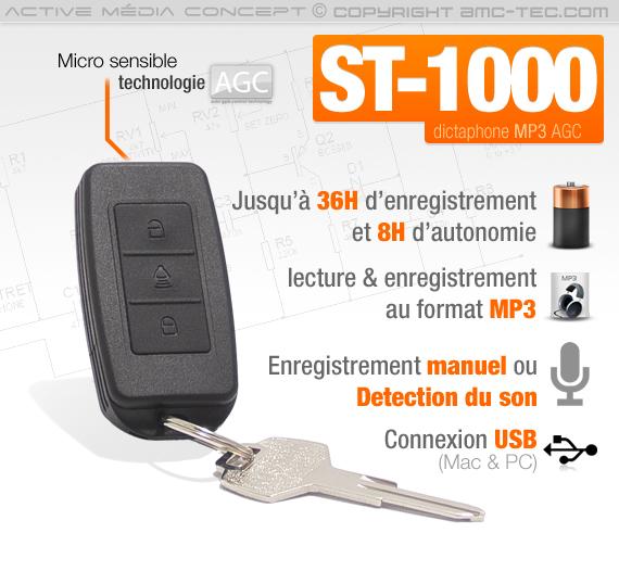 enregistreur audio numérique détection de son