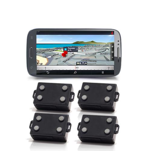 4 balises GPS et un Smartphone 5.3 pouces