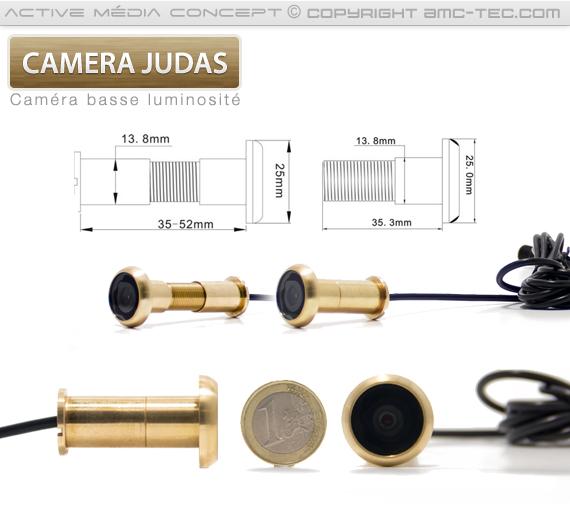 Dimension pour la caméra judas en laiton