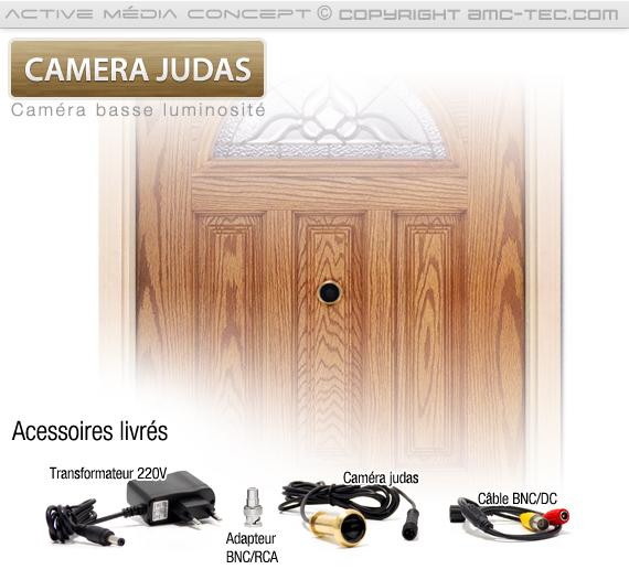Accessoires livrés avec votre caméra judas