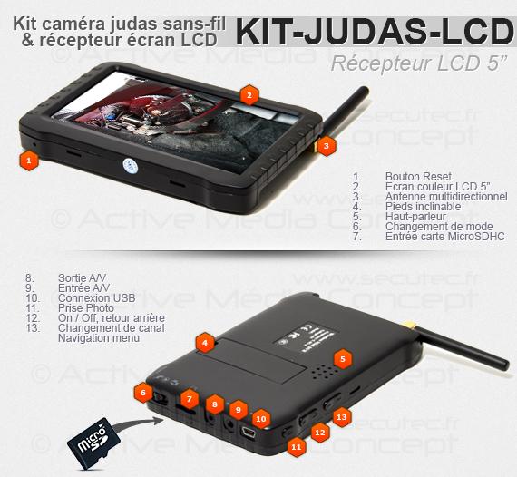 """détails du récepteur LCD couleur 5"""""""