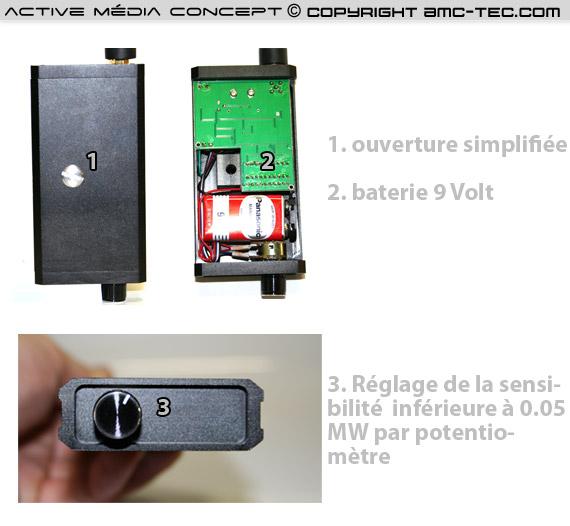 Détecteur de fréquences professionnel de 25 Mhz à 6 Ghz