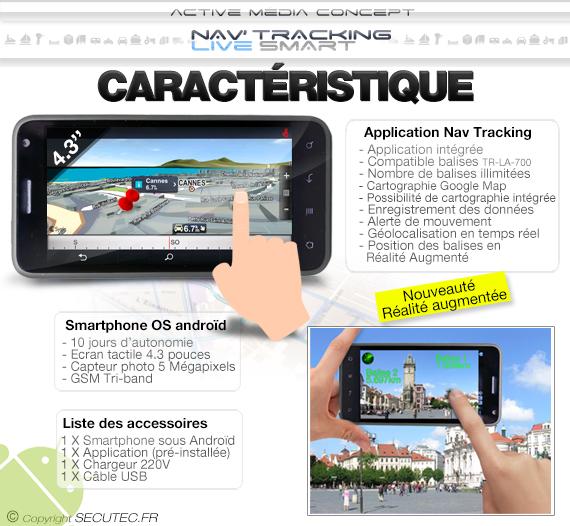 """Kit de géolocalisation en temps réel écran tactile 5.3"""" et 10 balise GPS"""