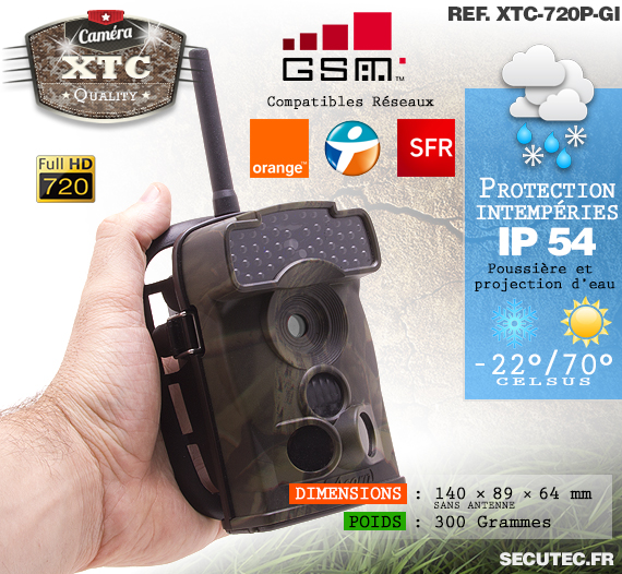 Description de la caméra XTC-720P-GI