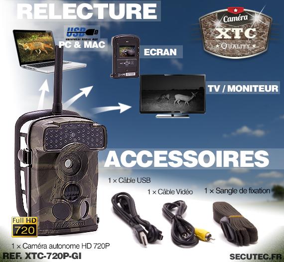 Accessoires de la caméra XTC-720P-GI