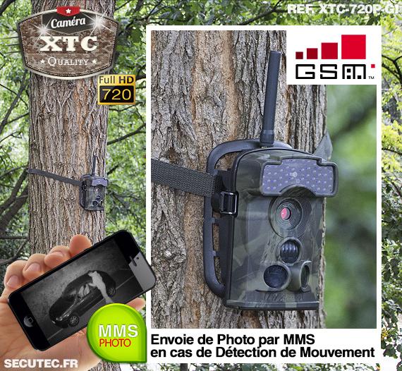 La caméra XTC-720P-GI fixée à un arbre