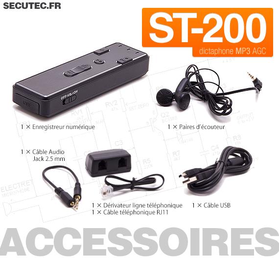 Micro enregistreur audio numérique avec détection de son 3