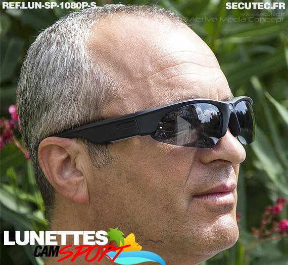 Lunettes caméra sport HD 1080P 16Go portée