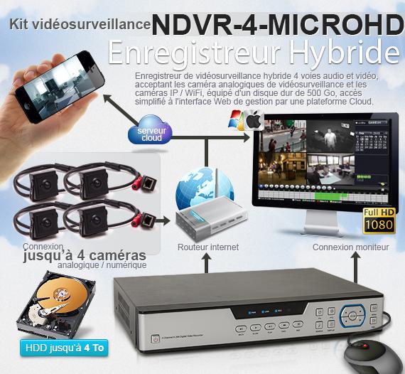 NDVR-4-MICROHD - Enregistreur hybride 1