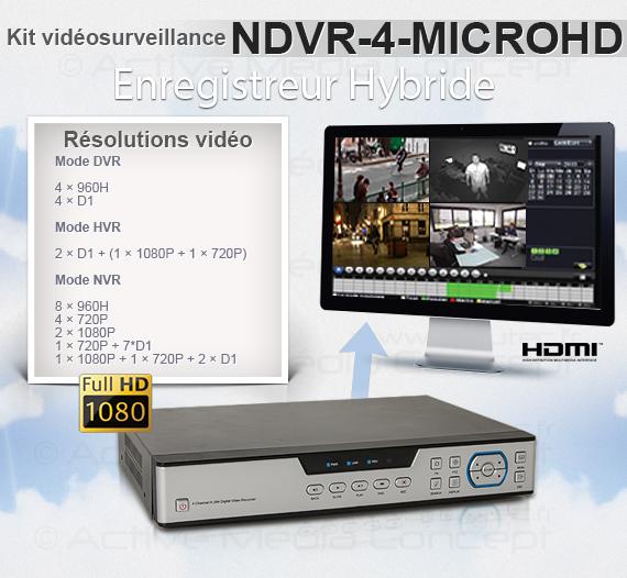 NDVR-4-MICROHD - Résolutions vidéo