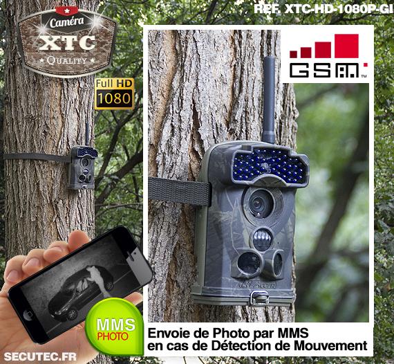 La fixation à un arbre de la caméra XTC-HD-1080-GI