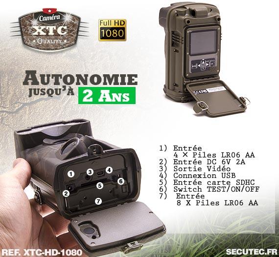 Le rack batterie de la caméra XTC-HD-1080