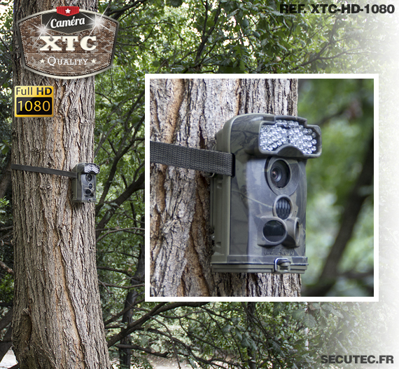 La fixation de la caméra XTC-HD-1080