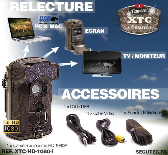 Les accessoires de la caméra XTC-HD-1080-I