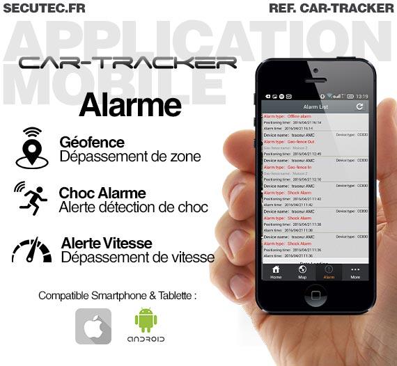 Traceur GPS temps réel aimanté longue autonomie waterproof pour véhicule avec localisation sur smartphone