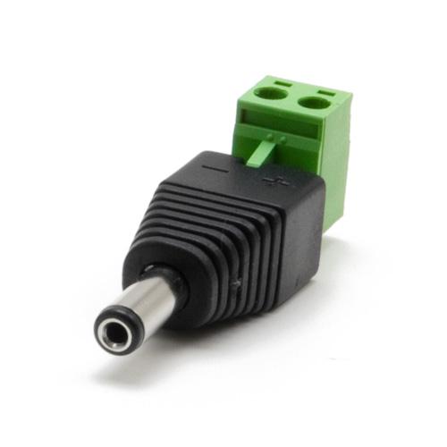 Connecteur d'alimentation Jack DC mâle avec bornier détachable