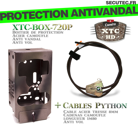 Description de la box anti-vandale XTC-BOX-720P