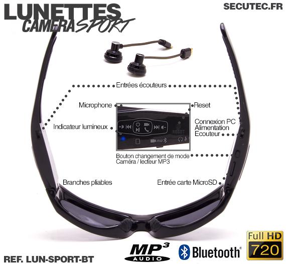 La connectique des lunettes de sport LUN-SPORT-BT
