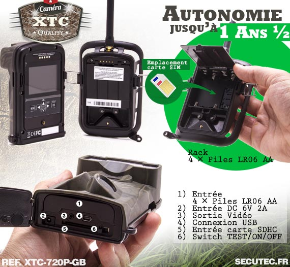 Batterie du kit XTC-720P-GB