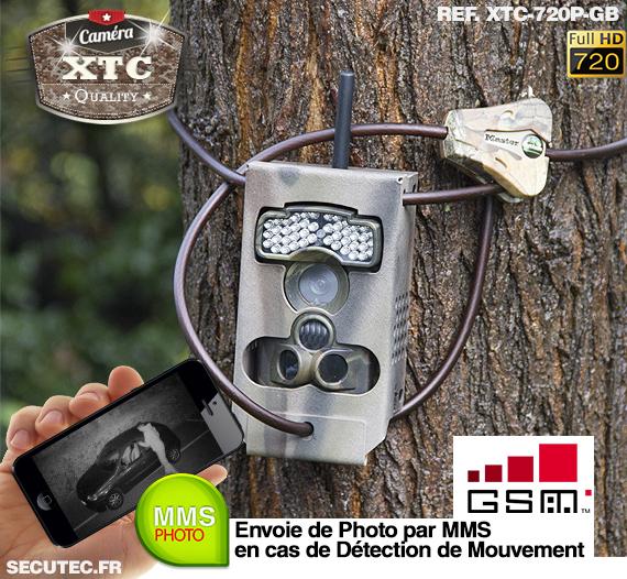 Kit XTC-720P-GB fixé à un arbre