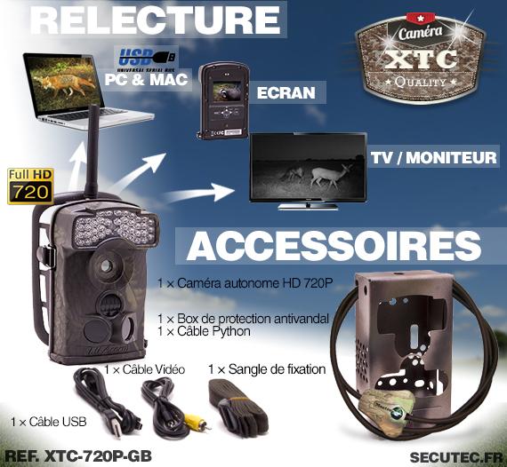 Accessoires du kit XTC-720P-GB