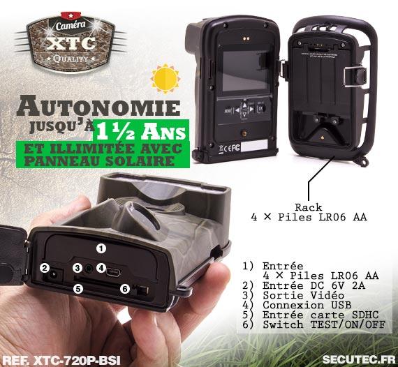 Batterie du kit XTC-720P-BSI