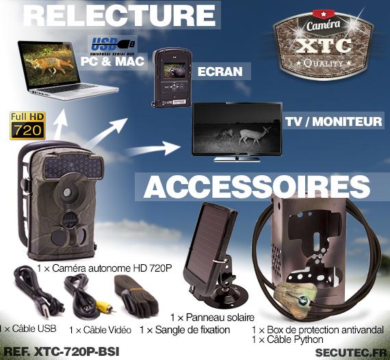Accessoires du kit XTC-720P-BSI