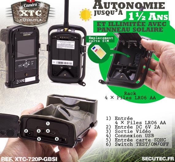 Batterie du kit XTC-720P-GBSI