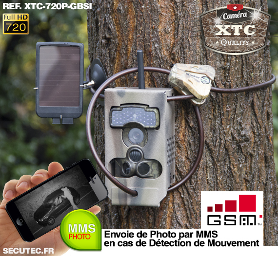 Kit XTC-720P-GBSI fixé à un arbre
