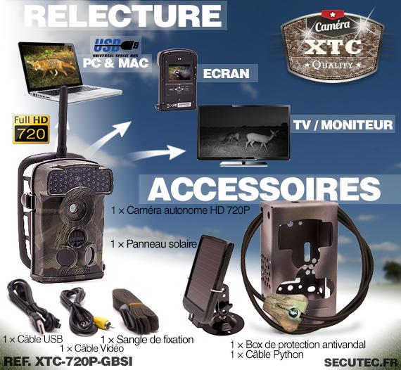 Accessoires du kit XTC-720P-GBSI