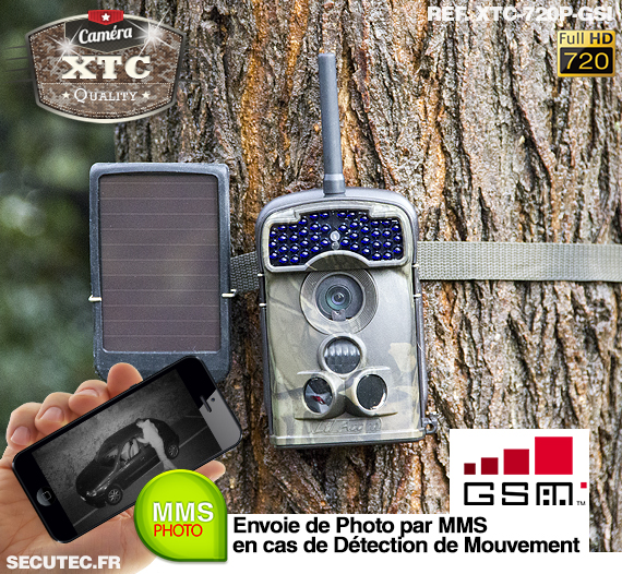 Kit XTC-720P-GSI fixé à un arbre