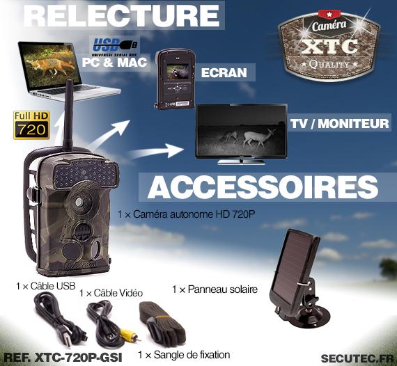Accessoires du XTC-720P-GSI