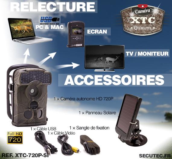 Accessoires du Kit XTC-720P-SI