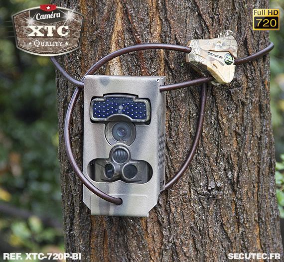 Kit XTC-720P-BI fixé à un arbre