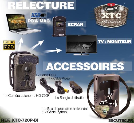 Accessoires du Kit XTC-720P-BI