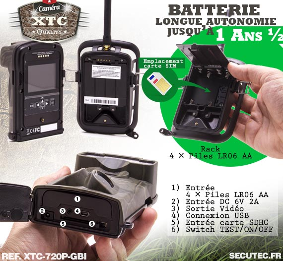 Batterie du kit XTC-720P-GBI