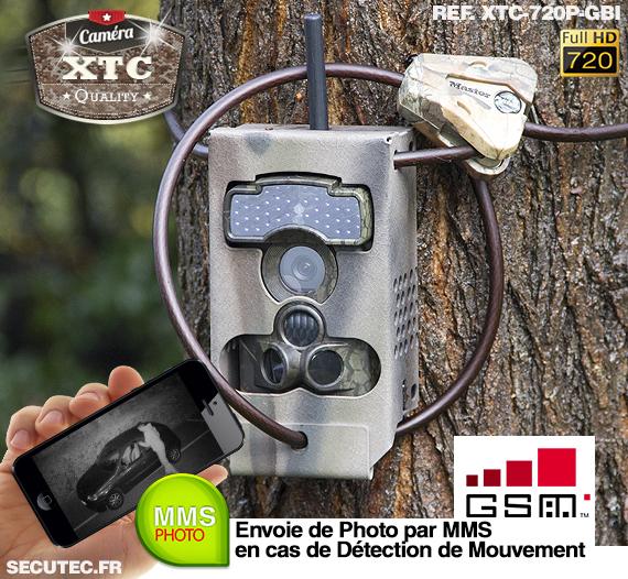 Kit XTC-720P-GBI fixé à un arbre