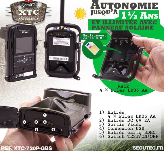Batterie du kit XTC-720P-GBS
