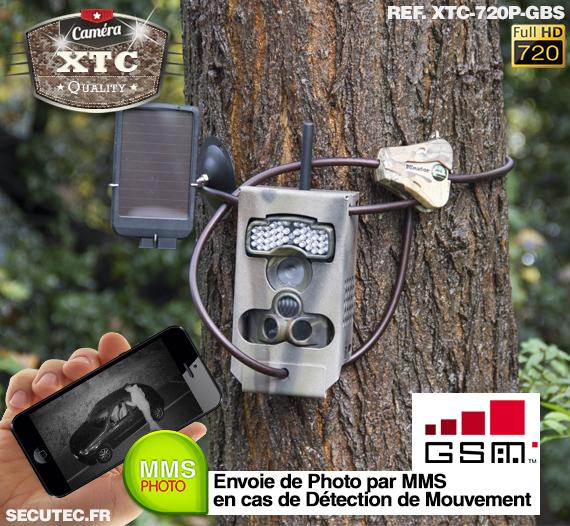 Kit XTC-720P-GBS fixé à un arbre