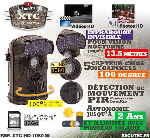 Les caractéristiques de la caméra XTC-HD-1080-SI
