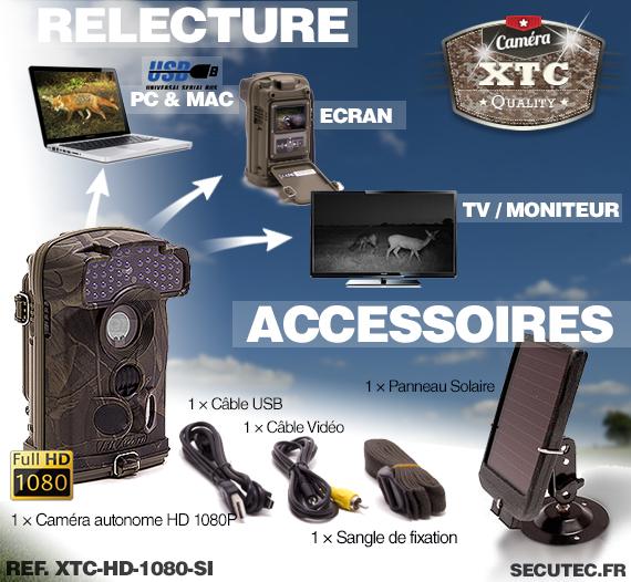 Les accessoires du kit XTC-HD-1080-SI