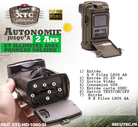 La batterie de la caméra XTC-HD-1080-SI