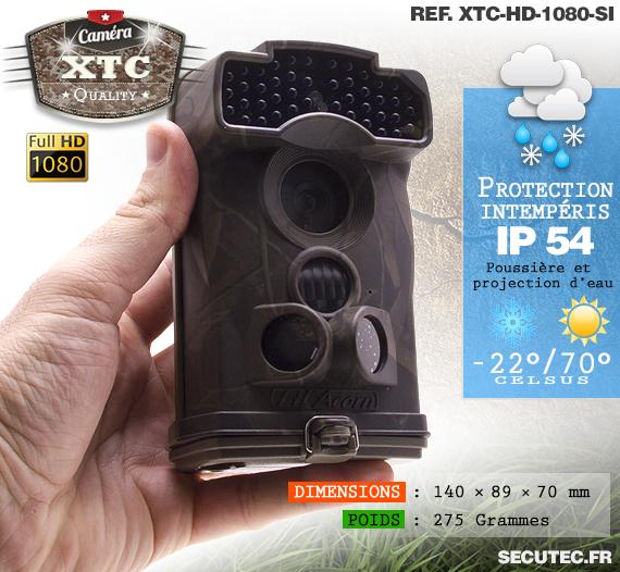 La suite des caractéristiques de la caméra XTC-HD-1080-SI