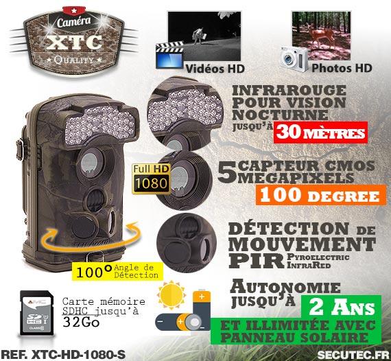 Les caractéristiques de la caméra XTC-HD-1080-S
