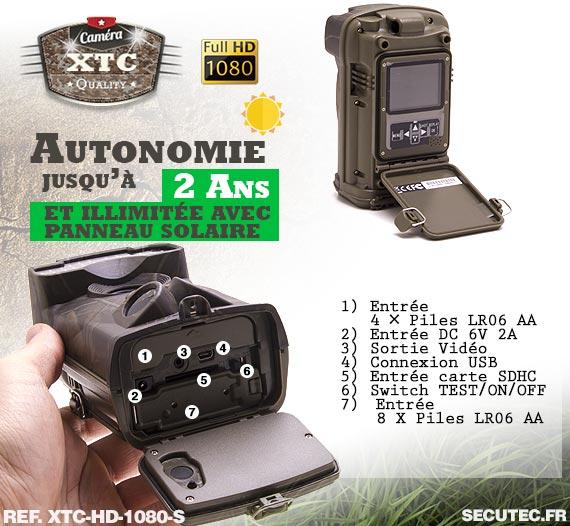La batterie de la caméra XTC-HD-1080-S