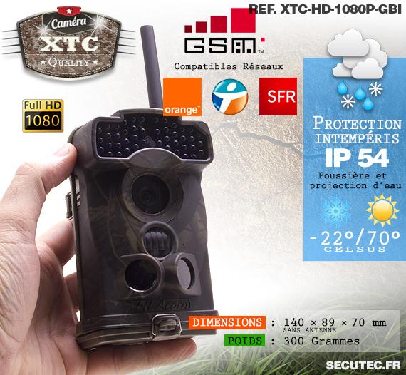 Le réseau et la résistance des caméras XTC-HD-1080-GI