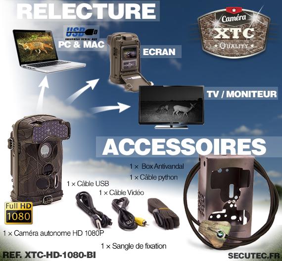 Les accessoires du kit XTC-HD-1080-BI