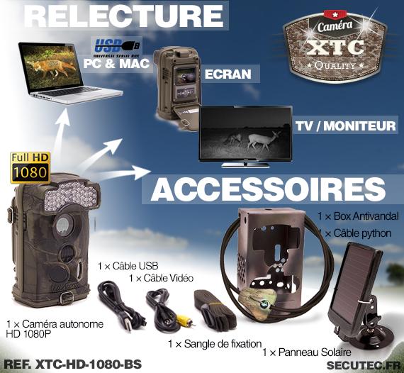 Les accessoires du kit XTC-HD-1080-BS