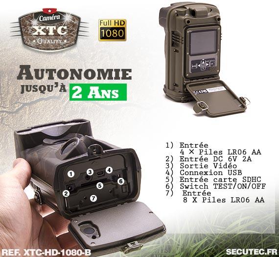 L'alimentation de la caméra XTC-HD-1080