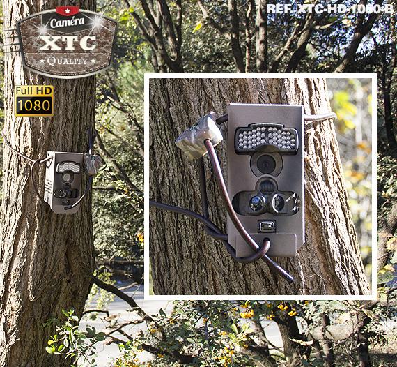 La fixation de la caméra XTC-HD-1080 avec sa box